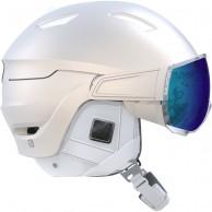 Salomon Mirage+ skidhjälm med visir, vit