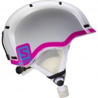 Salomon Grom skidhjälm, vit/pink