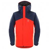 Haglöfs Niva Insulated Jacket, herr jacka, röd/blå