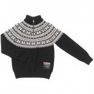 Typhoon Bodö stickat sweater, svart/vit