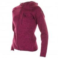 Cairn Roselend W, fleece jacka, dam, vinröd