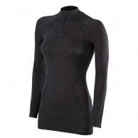 Falke Wool-Tech Zip Shirt Comfort, dam, svart