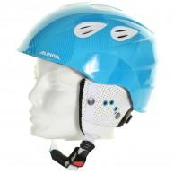 Alpina Grap 2.0 JR, skidhjälm, blå/vit