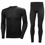Helly Hansen Comfort Dry 2-Pack skidunderställ set, herr, svart