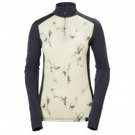 Helly Hansen W Wool Graphic 1/2 zip, vit
