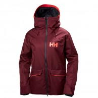 Helly Hansen W Powderqueen Ski Jacket, dam, bordeaux