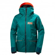 Helly Hansen W Powderqueen Ski Jacket, dam, grön