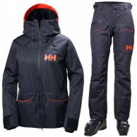 Helly Hansen W Powder skidset, dam, blå