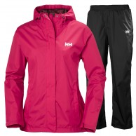 Helly Hansen W Portland set, regnkläder, dam, persian red