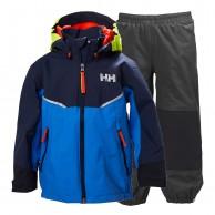 Helly Hansen K Shelter, regnkläder, barn, blå/grå