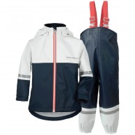 Didriksons Waterman, regnkläder, barn, navy/vit