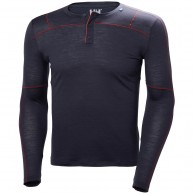 Helly Hansen Merino Light Button LS, herr, mörkblå