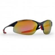 Demon Tour glasögon m. 3 set linser, carbon/röd