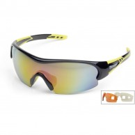 Demon Fuel sportsglasögon, svart/gul, 3 linser