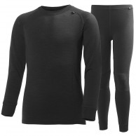 Helly Hansen Lifa Merino skidunderställ set, junior, black
