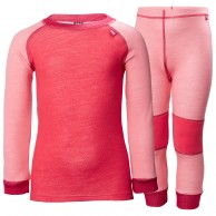 Helly Hansen Lifa Merino skidunderställ set, barn, strawberry pink