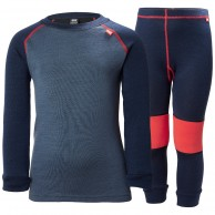 Helly Hansen Lifa Merino skidunderställ set, barn, evening blue