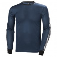 Helly Hansen Lifa Stripe Crew, herr, dark teal