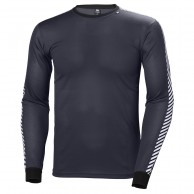 Helly Hansen Lifa Stripe Crew, herr, graphite blue