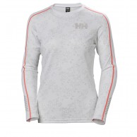 Helly Hansen W Lifa Active Graphic Crew, dam, white