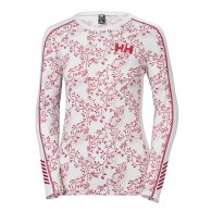 Helly Hansen W Lifa Active Graphic Crew, dam, flag red