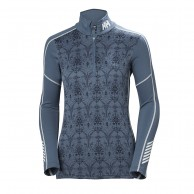Helly Hansen W Lifa Active Graphic 1/2 Zip, dam, vintage indigo
