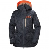 Helly Hansen W Powderqueen 2.0 Ski Jacket, dam, blue camo