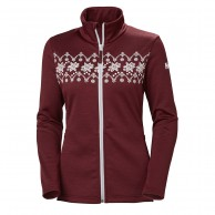 Helly Hansen W Graphic fleece jacket, dam, cabernet