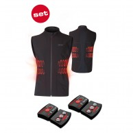 Lenz Heat Vest 1.0 + Lithium Pack rcB 1800, herr, black