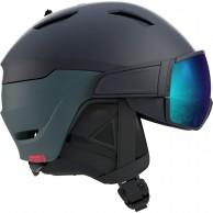 Salomon Driver Dr., skidhjälm med visir, blue/solar