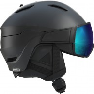 Salomon Driver S, skidhjälm med visir, svart