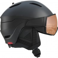 Salomon Driver S, skidhjälm med visir, svart/röd