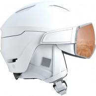 Salomon Mirage S, skidhjälm med visir, vit