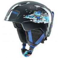 Uvex Manic, skidhjälm, black snow dog
