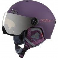 Cairn Eclipse Rescue, skidhjälm med Visir, matt plum