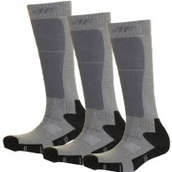 4F 3 par billiga skidstrumpor, barn, dark grey