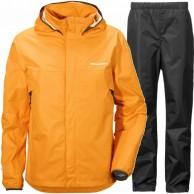 Didriksons Vivid Mens regnkläder, orange/svart