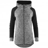 Outhorn Warmy Duo Hoodie, lång fleece jacka, dam, grå