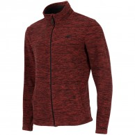 4F Monta fleece jacka, herr, red melange