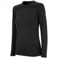 4F skidunderställs tröja, seamless, dam, svart