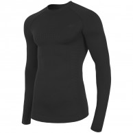 4F skidunderställs tröja, seamless, herr, svart
