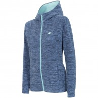 4F Warm Fleece hoodie, dam, blå