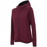 4F Warm Fleece hoodie, dam, violet