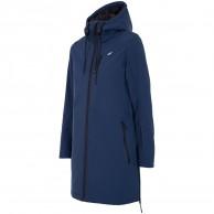 4F Inez lång softshell jacka, dam, blå