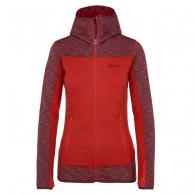 Kilpi Assasin-W Fleece hoodie, dam, röd