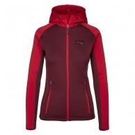 Kilpi Yoho-W Fleece hoodie, dam, röd