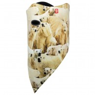 Airhole Facemask 2 Layer, polar bears