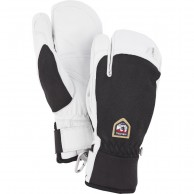 Hestra Army Leather Patrol 3-finger skidhandskar, svart