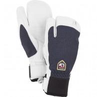 Hestra Army Leather Patrol 3-finger skidhandskar, marin