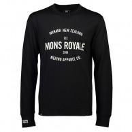 Mons Royale Yotei Tech LS, skidundertröja, herr, svart